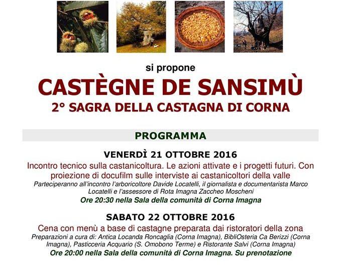 Castegne de sansimù 2016 - sagra della castagna