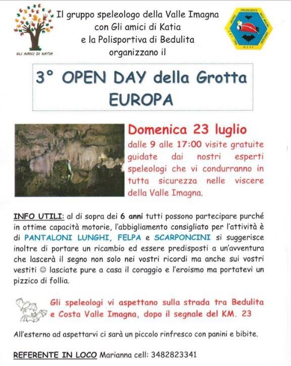 grotta europa open day